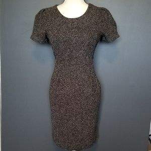GAP Brown and white Textured Work dress